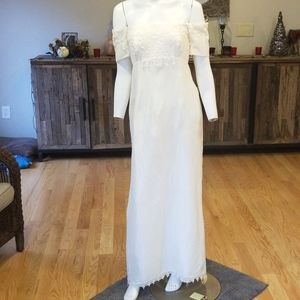 French lace California 100%silk gown